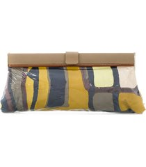 a.n.g.e.l.o. vintage cult abstract print rectangular clutch -