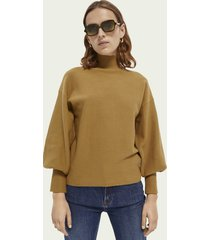 scotch & soda cotton high-neck sweater