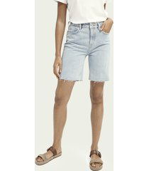 scotch & soda high-rise short van biologisch katoen - powder blue