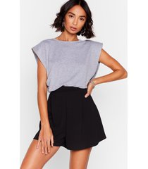 womens flip of the lip high-waisted shorts - black