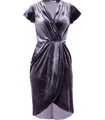 sukienka aksamitna szara