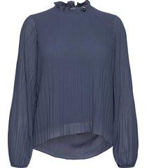 alie blouse lange mouwen blauw mbym