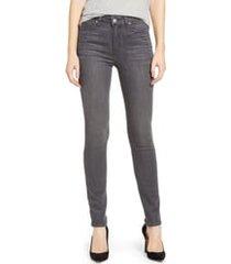 women's paige hoxton transcend high waist skinny jeans, size 27 - grey