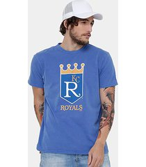camiseta mlb kansas city royals new era retro masculina
