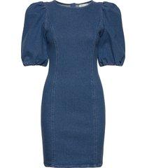 astridgz roundneck dress ze2 20 korte jurk blauw gestuz