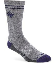 men's bombas burchar socks, size large - grey