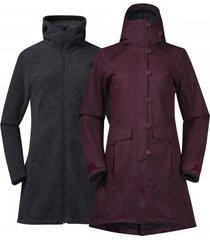 bergans jas women bjerke 3in1 coat zinfandel red-s