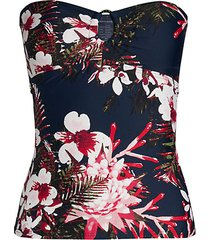 orchid strapless tankini top