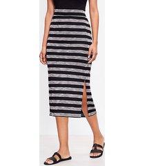 loft geo striped slit column pull on skirt