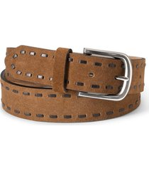 laced edge suede belt