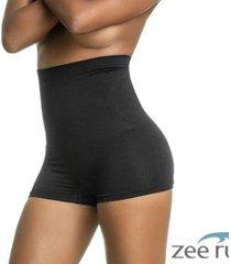 calcinha boxer modeladora alta sem costura preta ca123 - feminino