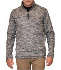 men's space dyed fleece quarter zip sweatshirt