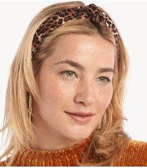 women's leopard print headband dark brown one size from sole society