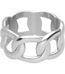 anello in acciaio groumette per donna