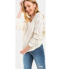 andrea knot back sweater - ivory