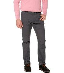 pantalon gris preppy 5 bolsillos acanalado 100%alg bota 20