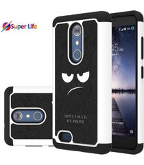 zte zmax pro case drop protection dual layer heavy duty protective silicon cover
