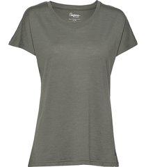 oslo wool w tee t-shirts & tops short-sleeved grön bergans
