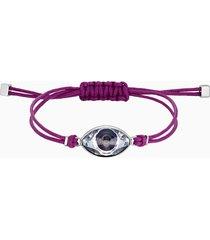 braccialetto swarovski power collection evil eye, viola, acciaio inossidabile
