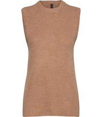 yaszal waistcoat d2d knitwear vests-indoor brun yas