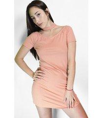vestido coral alojuana lace