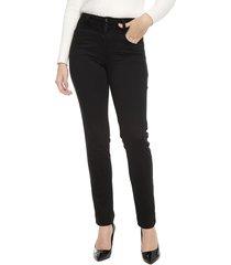pantalón tentation recto negro - calce ajustado