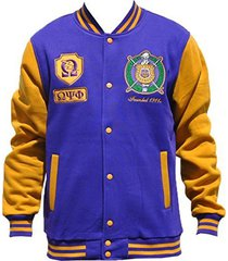 omega psi phi fraternity men's fleece jacket purple (5xl)
