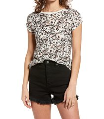 women's free people camo clare tee, size small - ivory
