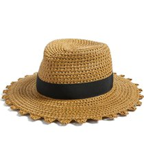 women's eric javits cannes squishee straw hat - beige