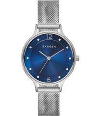 skagen women's anita stainless steel mesh bracelet watch 30mm skw2307