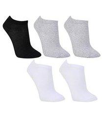 kit meias cia da meia cano curto com 5 pares feminina