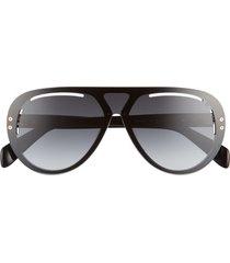 rag & bone 136mm gradient aviator shield sunglasses -