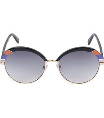 57mm round clubmaster sunglasses