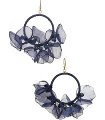 women's stella + ruby melody chiffon hoop earrings