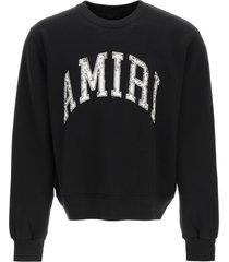 amiri amiri varsity crew sweatshirt