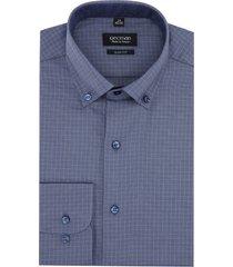 koszula bexley 2642 długi rękaw slim fit niebieski