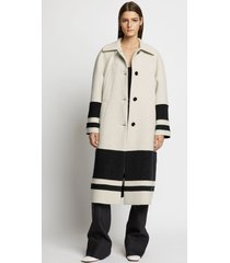 proenza schouler double face cashmere coat 10136 off-white/black 0