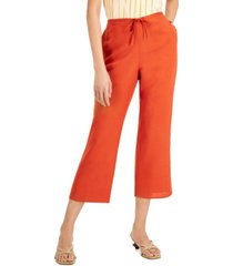 alfani drawstring cropped pants, created for macy's