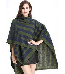 cardigan in lana imitazione elegante con stampa scialle a righe