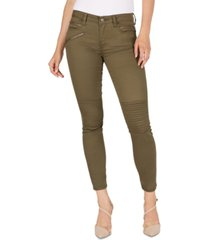 numero mid-rise moto skinny ankle jeans
