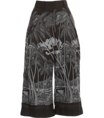 sacai sun surf diamond head cropped pants