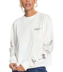 roxy fly over the world cotton graphic t-shirt
