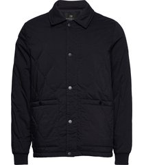 classic quilted cotton-blend jacket doorgestikte jas blauw scotch & soda