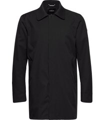 technical twill coat trenchcoat lange jas zwart lindbergh