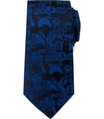men's cufflinks, inc. 'batman' silk tie, size regular - blue