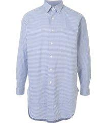 kent & curwen double collar long sleeve shirt - blue