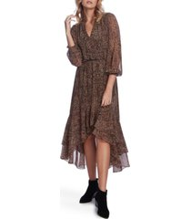 1.state leopard-print high-low dress