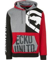 ecko unltd men's patchwork hoodie