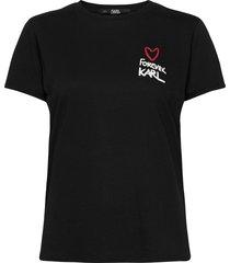 forever karl t-shirt t-shirts & tops short-sleeved svart karl lagerfeld