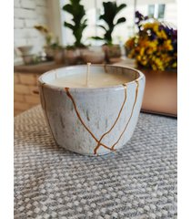 świeca w kubeczku ręcznie malowanym opium